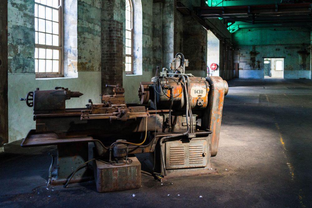 Old and abandoned lathe